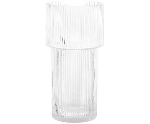 Jarrón de vidrio Lija, Transparente