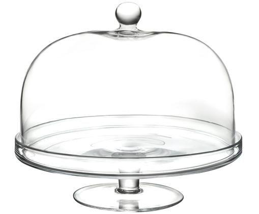 Plat à gâteau en cristal Lia, Transparent