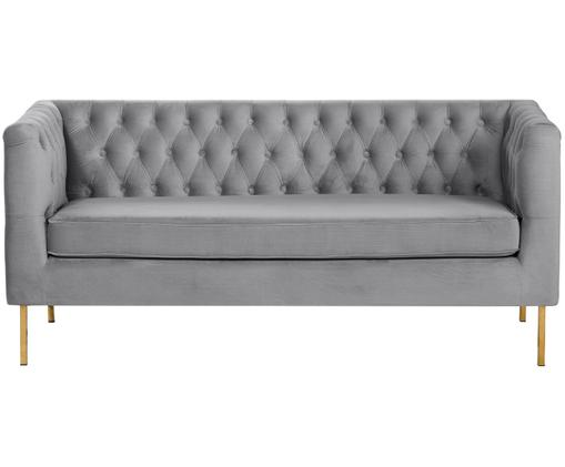 Canapé Chesterfield en velours Chiara (2 places), Gris