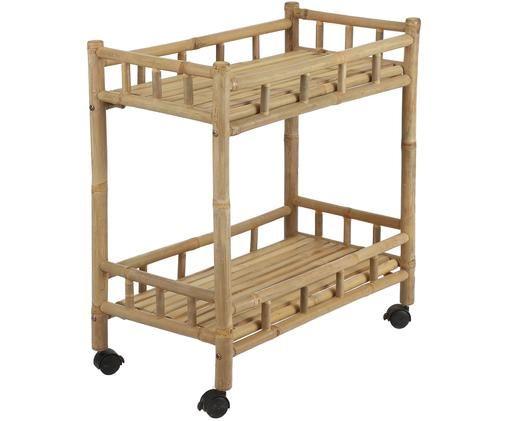 Bambusový barový vozík Tropical, Hnědá