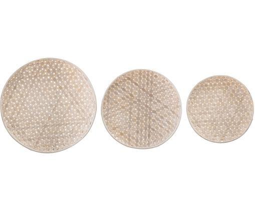 Deko-Schalen-Set Lidia, 3-tlg., Holz, Holz, Sondergrößen