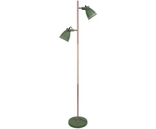Lampa podłogowa Mingle W. Wood, Zielony, odcienie miedzi