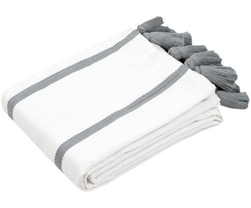 Narzuta Joe, 100% bawełna, Kremowobiały, szary, S 160 x D 200 cm