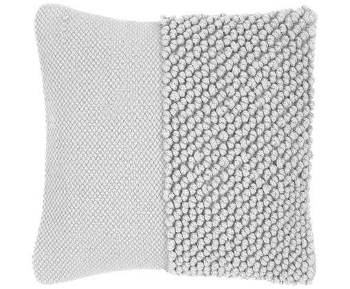 Federa arredo Andi, 90% acrilico, 10% cotone, Grigio chiaro, Larg. 40 x Lung. 40 cm
