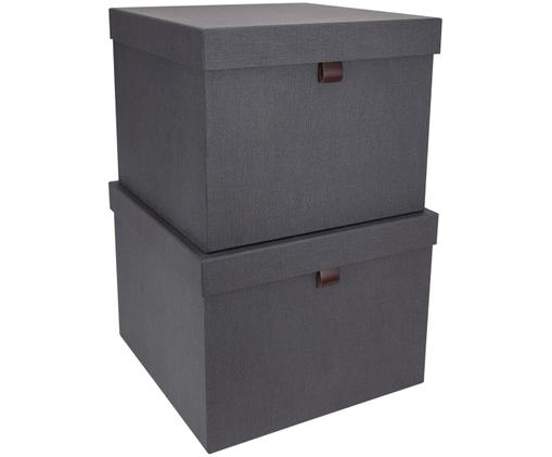 Aufbewahrungsboxen-Set Tristan, 2-tlg., Anthrazit