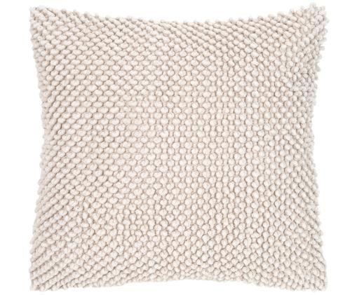 Coussin à surface texturée Indi, Blanc cassé