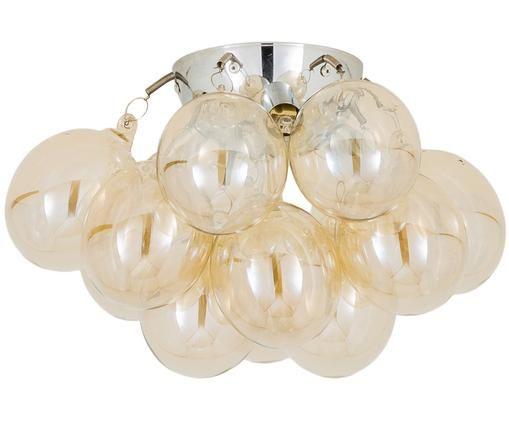 Kleine plafondlamp Gross met glazen bollen, Amberkleurig, Ø 30 x H 20 cm