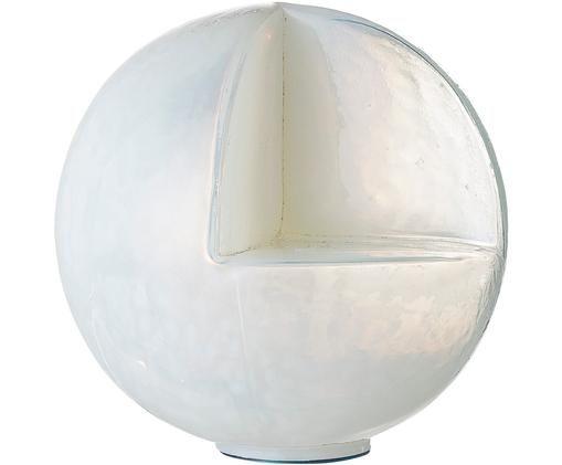 Dekoracja Globe, Szkło recyklingowe, Biały, błyszczący, Ø 15 cm