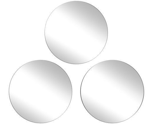 Wandspiegel-Set Erin, 3-tlg., Spiegelflächen: SpiegelglasSpiegelaußenkanten: Schwarz