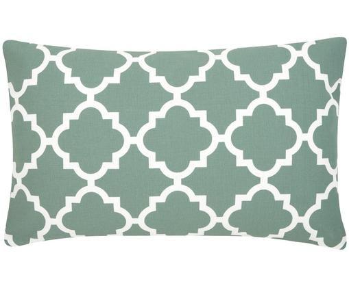 Poszewka na poduszkę Lana, Szałwiowa zieleń, biały