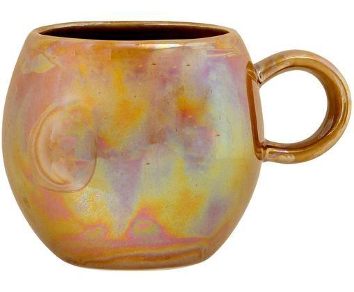 Tasse Paula, Keramik, Bernsteinfarben, Ø 9 x H 8 cm