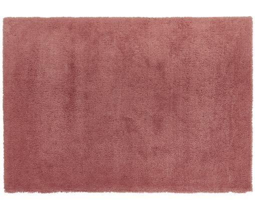 Flauschiger Hochflor-Teppich Leighton in Terrakotta, Flor: 100% Polyester (Mikrofase, Terrakotta, B 160 x L 230 cm (Größe M)