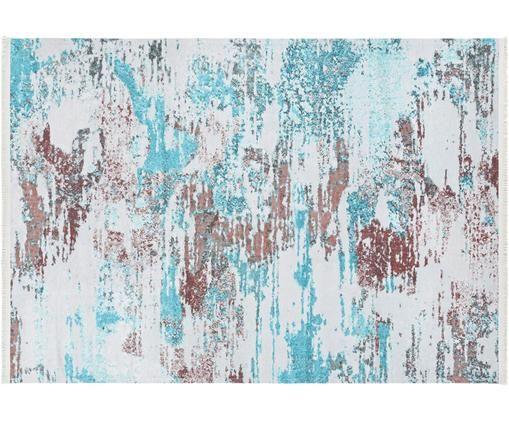 Dywan Keon, 50% poliester, 50% bawełna, Niebieski, szary, beżowy, S 160 x D 230 cm (Rozmiar M)