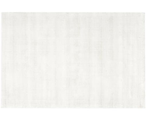 Alfombra de viscosa Jane, Parte superior: 100%viscosa, Reverso: 100%algodón, Marfil, An 200 x L 300 cm