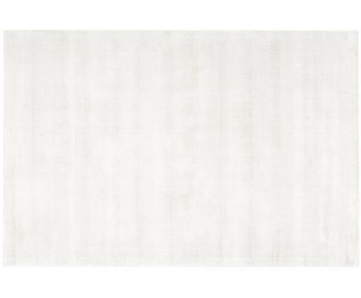 Tappeto in viscosa tessuto a mano Jane, Vello: 100% viscosa, Retro: 100% cotone, Avorio, Larg. 200 x Lung. 300 cm (taglia L)