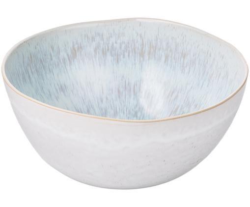 Insalatiera dipinta a mano Areia, Gres, Azzurro, bianco latteo, beige chiaro, Ø 26 x A 12 cm
