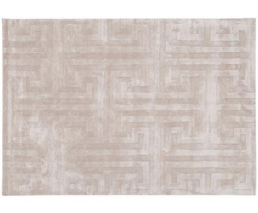 Ręcznie tuftowany dywan z wiskozy Clay, Taupe