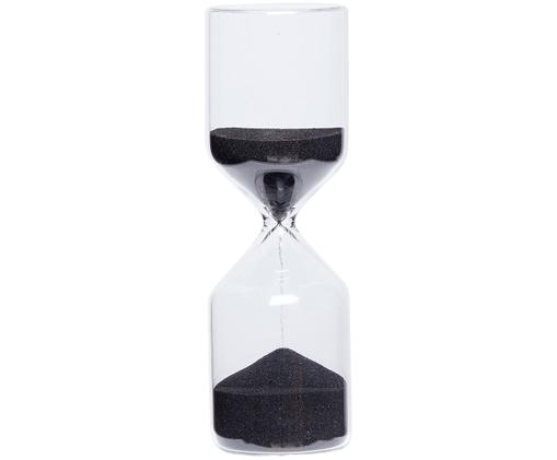 Klepsydra Fugit, Szkło, Klepsydra: transparentny Piasek: czarny, Ø 6 x W 18 cm