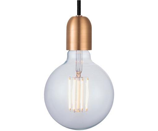 Lampa wisząca Cable-Set, Metal powlekany, Odcienie miedzi, czarny, Ø 4 x W 6 cm