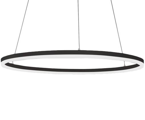 Suspension LED moderne Giotto, Noir