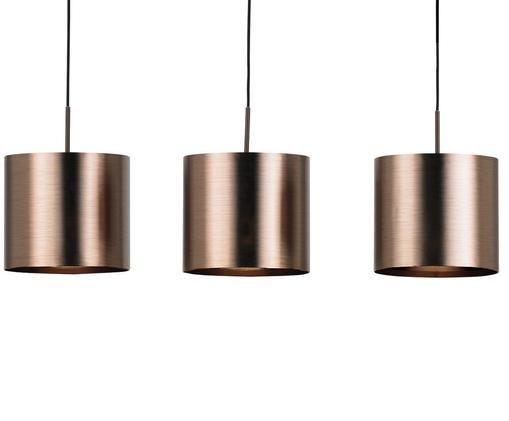 Grande suspension couleur bronze Saganto, Couleur bronze