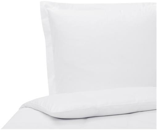 Baumwollsatin-Bettwäsche Premium in Weiß mit Stehsaum