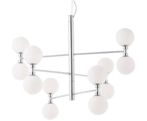 Suspension en verre Grover, Chrome