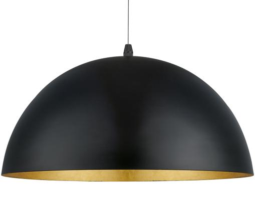 Suspension Gaetano, Noir, couleur dorée