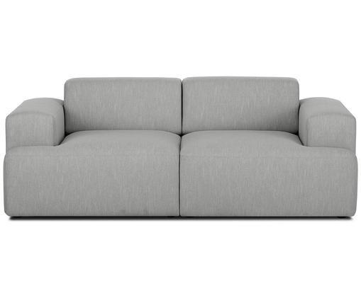 Sofa Marshmallow (2-Sitzer), Bezug: Polyester 35.000 Scheuert, Gestell: Massives Kiefernholz, Spa, Füße: Kiefernholz, Webstoff Grau, B 200 x T 101 cm