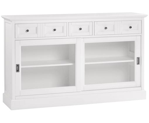 Credenza Koster in stile country, Bianco