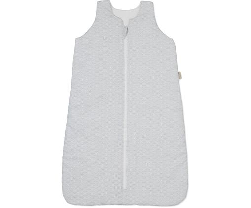 Schlafsack Wave aus Bio-Baumwolle, Bezug: Bio-Baumwolle, Grau, Weiß, 40 x 65 cm