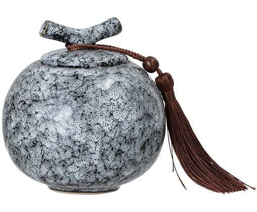 Aufbewahrungsdose Ebba, Dose: Steingut, Schwarz, Grau, Ø 11 x H 13 cm