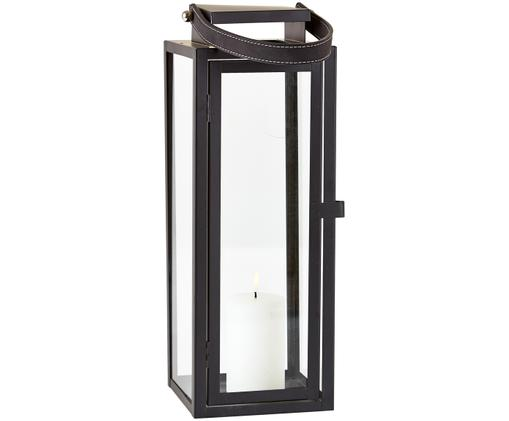 Lanterna Mia, Cornice: metallo verniciato, Cornice e presa: nero Finestra: trasparente, Larg. 14 x Alt. 39 cm