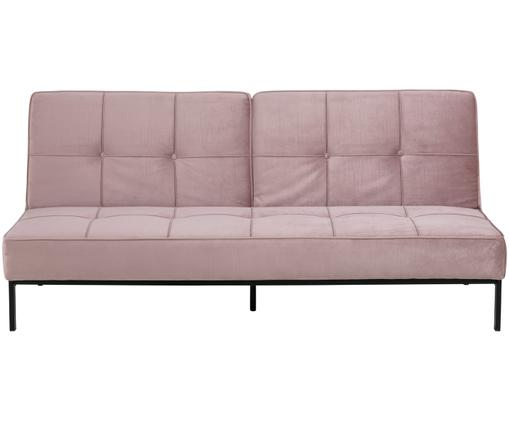 Sofá cama de terciopelo Perugia, Rosa