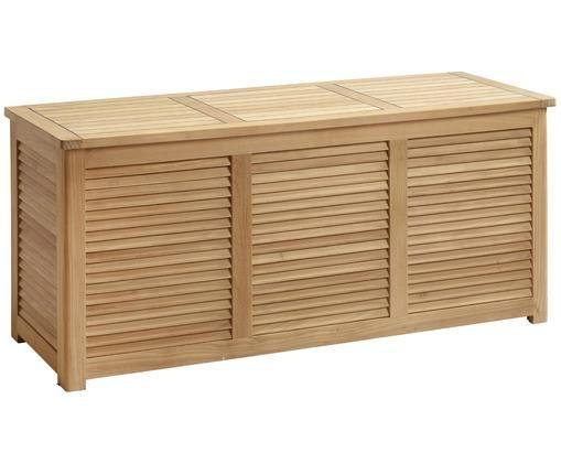 Tuinbox Storage van hout, Gepolijst teakhout, Teakhoutkleurig, 130 x 60 cm