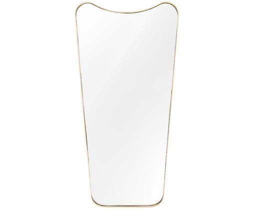 Espejo de pared Goldie, Latón, cepillado