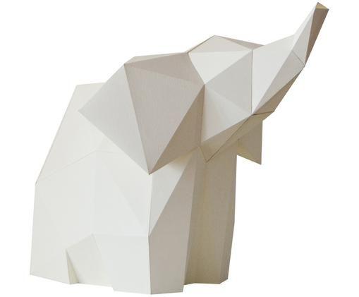 Lampe à poser en papier Baby Elephant, kit de construction, Blanc