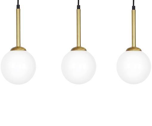Suspension en verre opalescent Parma, Laiton, blanc opalescent