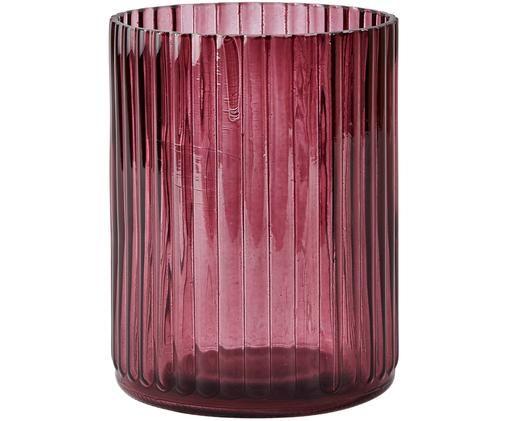 Vaso in vero Rubio, Vetro, Bordeaux, trasparente, Ø 11 x Alt. 15 cm