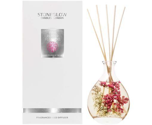 Dyfuzor zapachowy Nature's Gift (konwalia, róża i geranium), Szkło, Transparentny, Ø 8 x W 25 cm