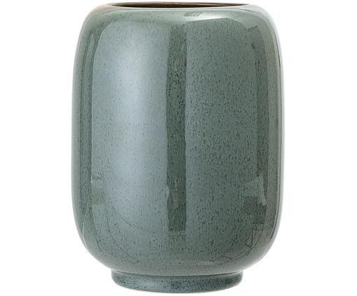 Vaso in ceramica Verena, Ceramica, Verde, marrone, Ø 14 x Alt. 18 cm
