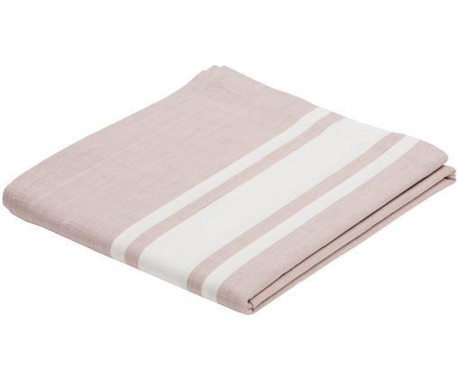 Obrus New French, Bawełna, Różowy, biały, Dla 6-8 osób (S 140 x D 250 cm)