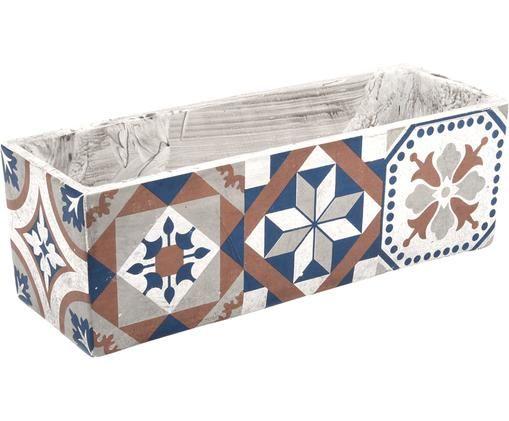 Portavaso Portugal, Cemento, Multicolore, Larg. 39 x Alt. 13 cm