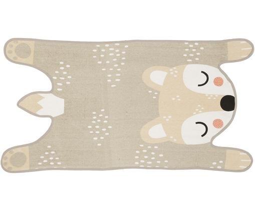 Teppich Bear Bibi, Flor: Baumwolle, Beige, Creme, Schwarz, Rosa, 62 x 120 cm