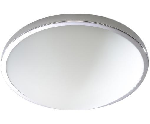 Plafoniera Calisto, Paralume: acciaio, cromato, Cromo, bianco, Ø 31 x Alt. 9 cm