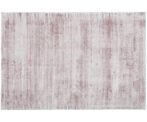 Tappeto in viscosa tessuto a mano Jane, Vello: 100% viscosa, Retro: 100% cotone, Lilla, Larg. 200 x Lung. 300 cm