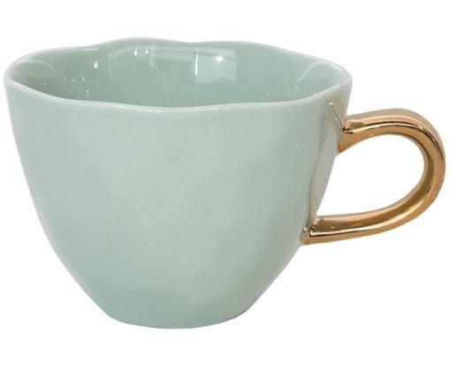 Tazza da caffè Good Morning, Verde menta, dorato