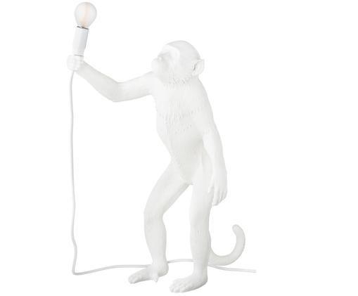 Außen-Tischleuchte Monkey, Kunstharz, Weiß, 46 x 54 cm