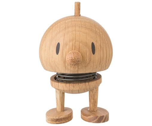 Decoratief object Baby Woody Bumble, Object: eikenhout, Bruin, Ø 5 x H 7 cm