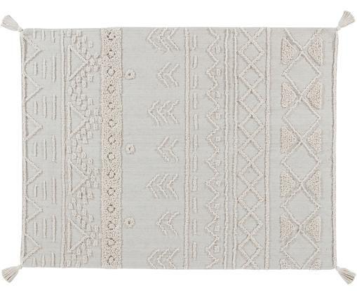 Ethno Teppich Tribu mit getuftetem Muster, Flor: 97% recycelte Baumwolle, , Cremefarben, Beige, B 120 x L 160 cm (Größe S)